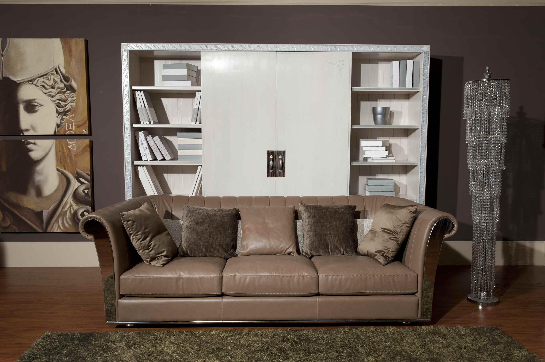 Кожаный диван-канапе