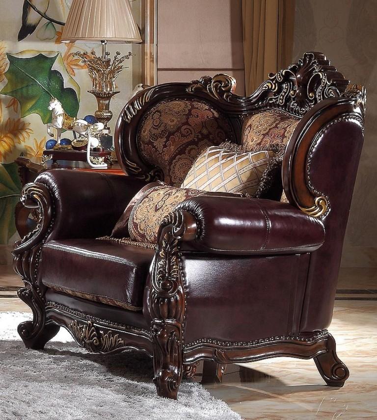 Кожаное кресло-трон