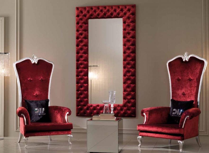 Красное кресло-трон
