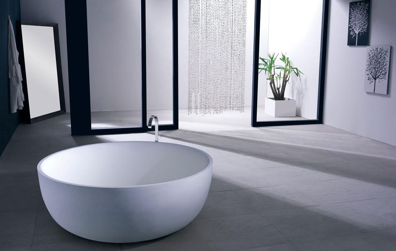 Каскадный смеситель на круглой ванне