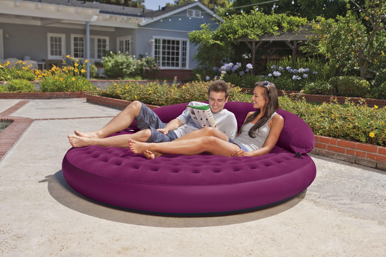 Круглый надувной диван