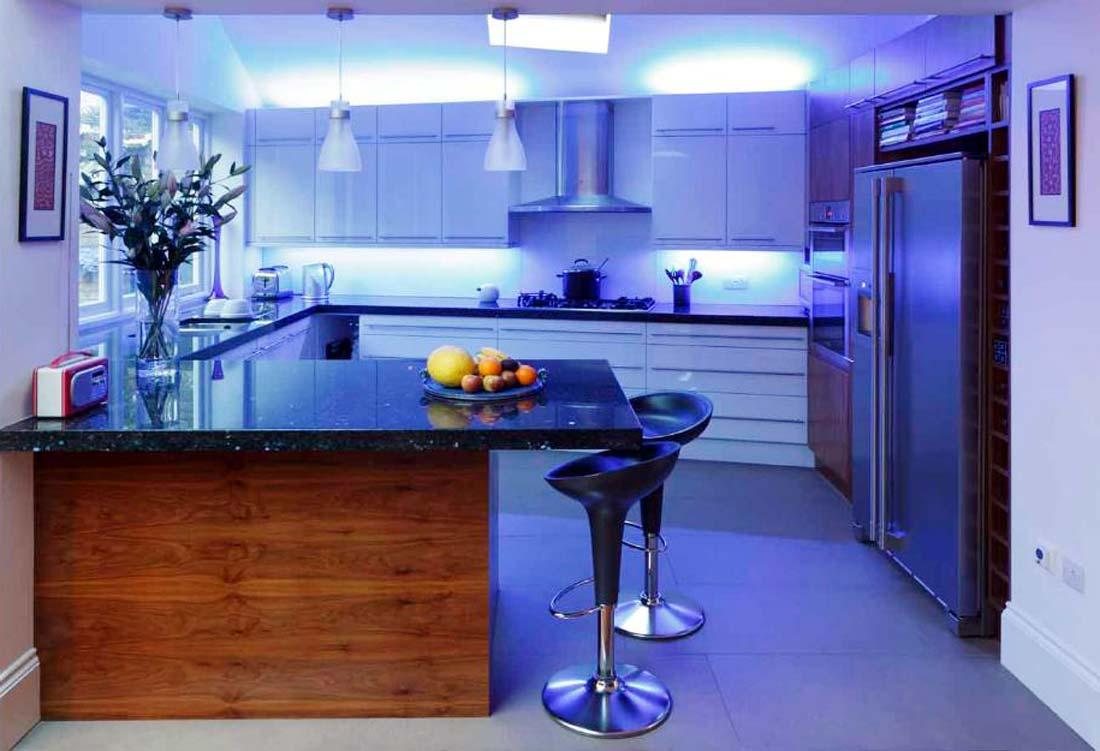 Светодиодные лампы на кухне