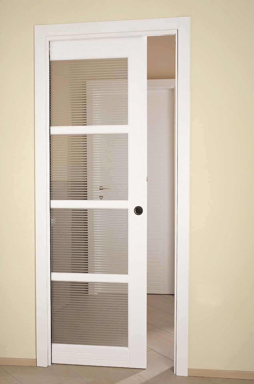 Межкомнатная дверь купе со стеклом