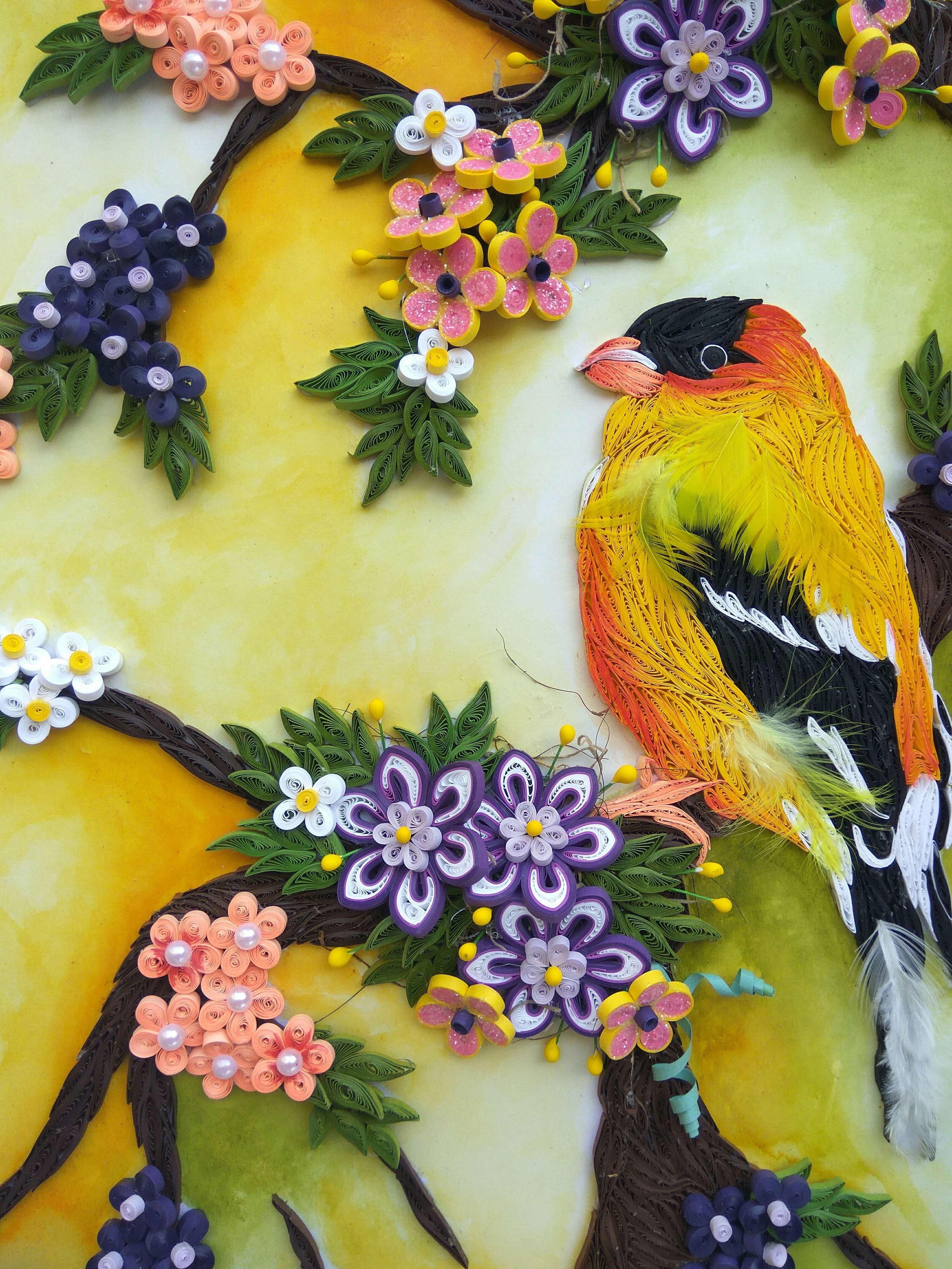 Панно декоративное из бумаги квиллинг