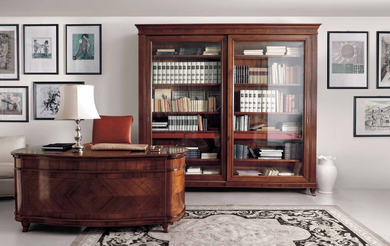 Лакированная мебель для кабинета