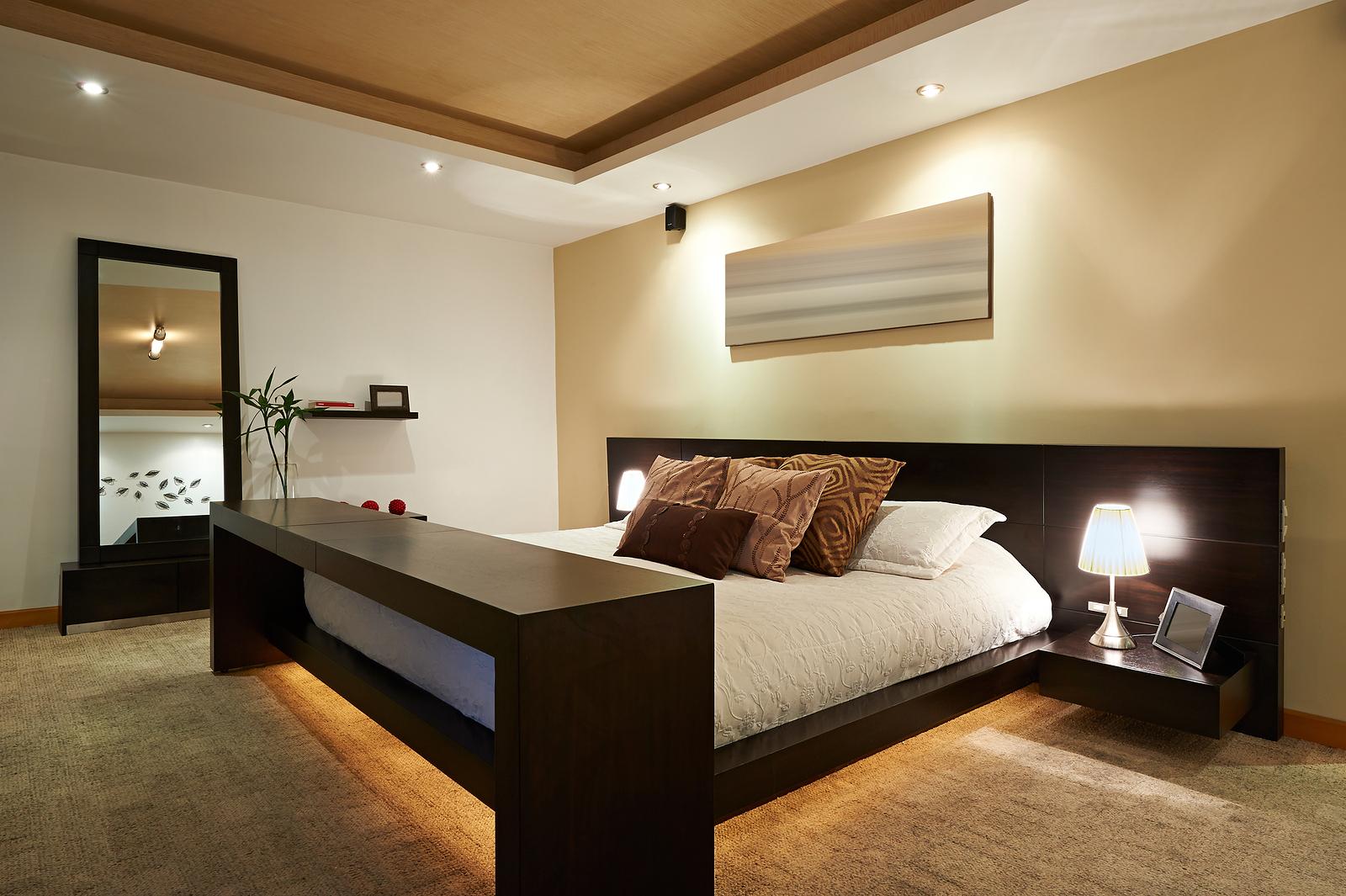 Светодиодные лампы в спальне