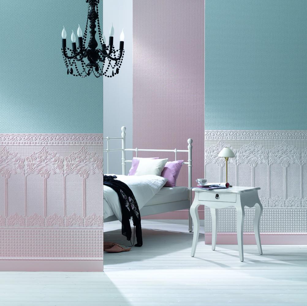 Латексная краска на обоях в интерьере спальни