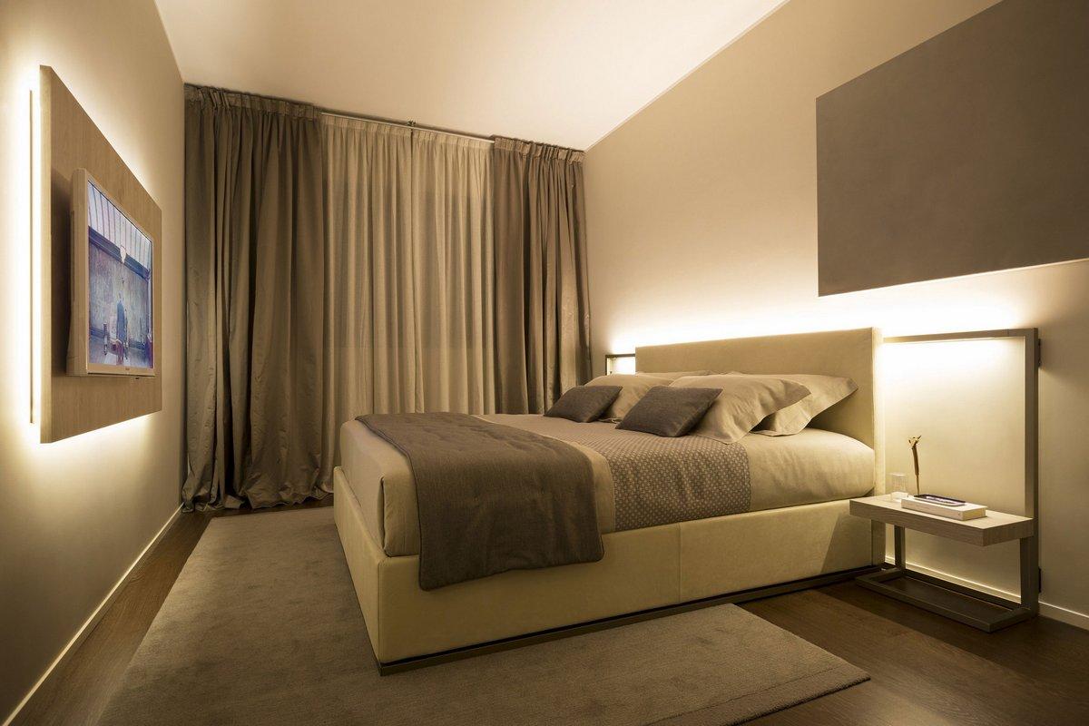 LED освещение спальни