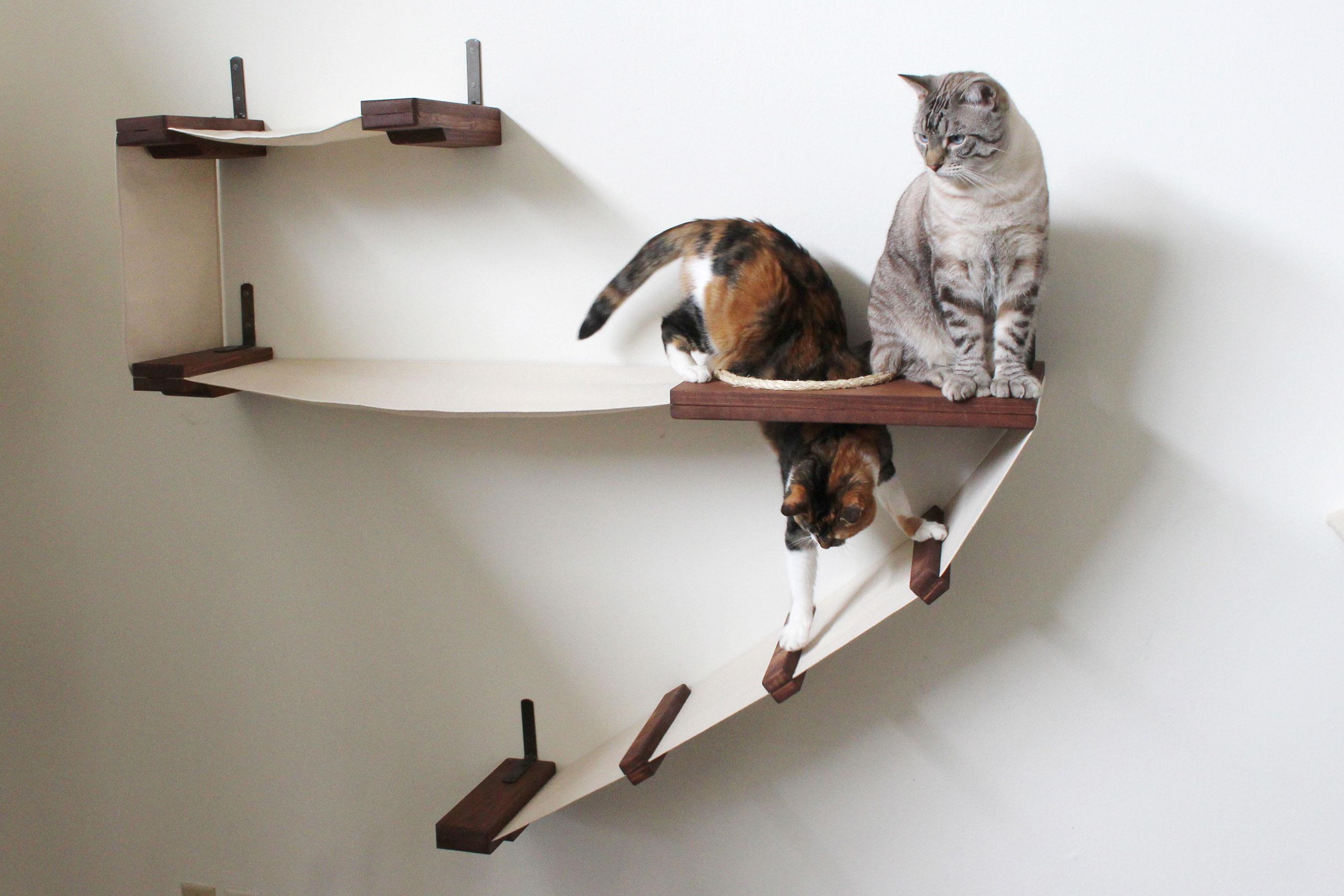 Гамак для кошки с лестницей