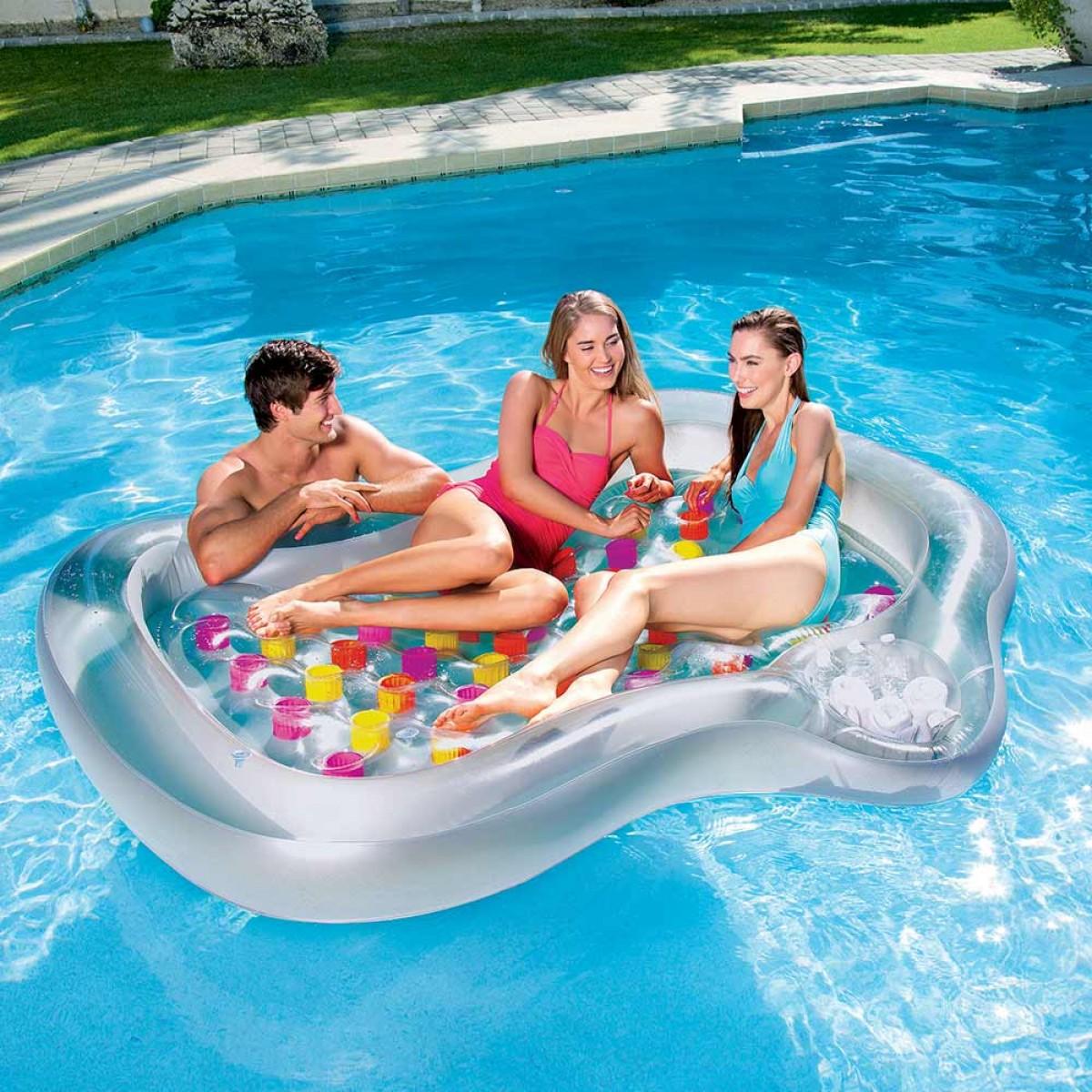 Надувной лежак для бассейна