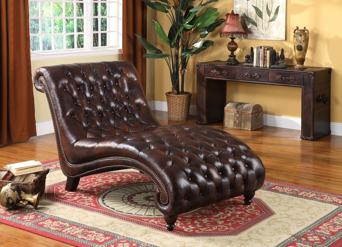 Кожаное кресло-лежанка