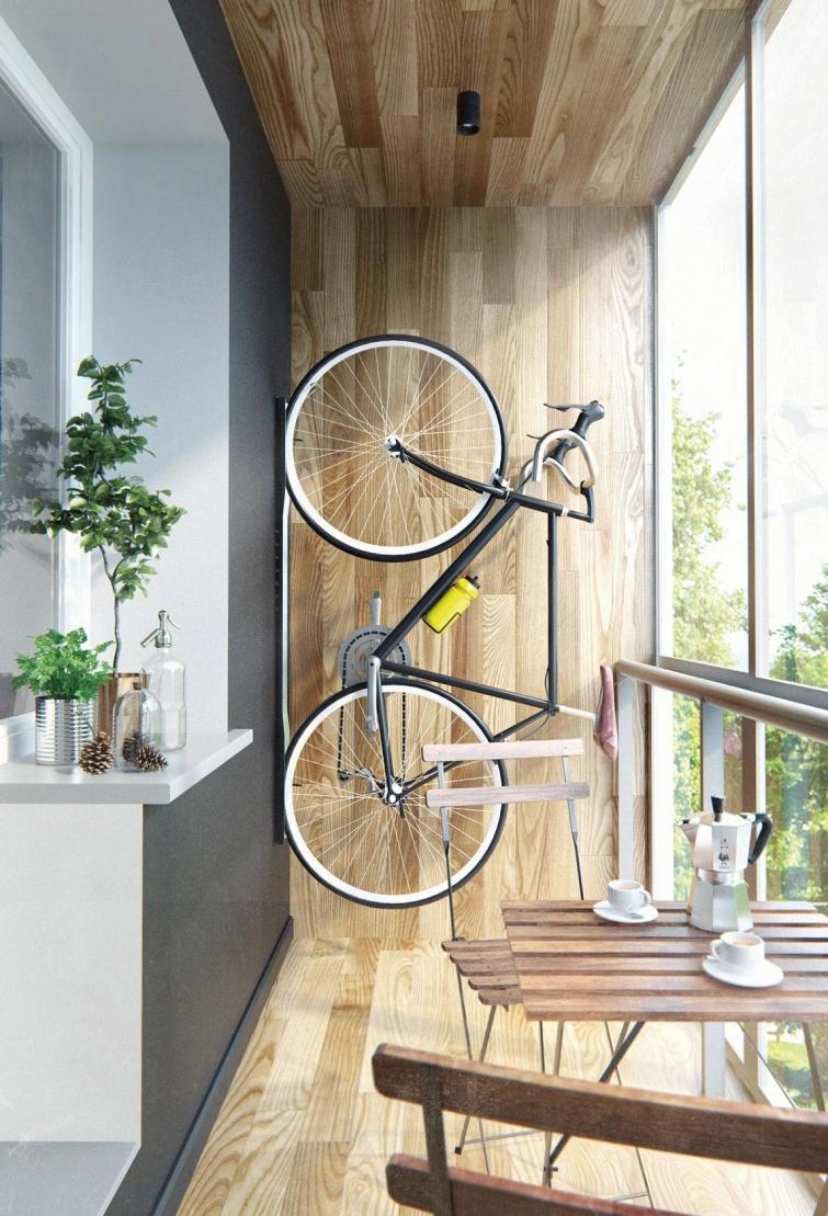 Хранение велосипедов в лоджии