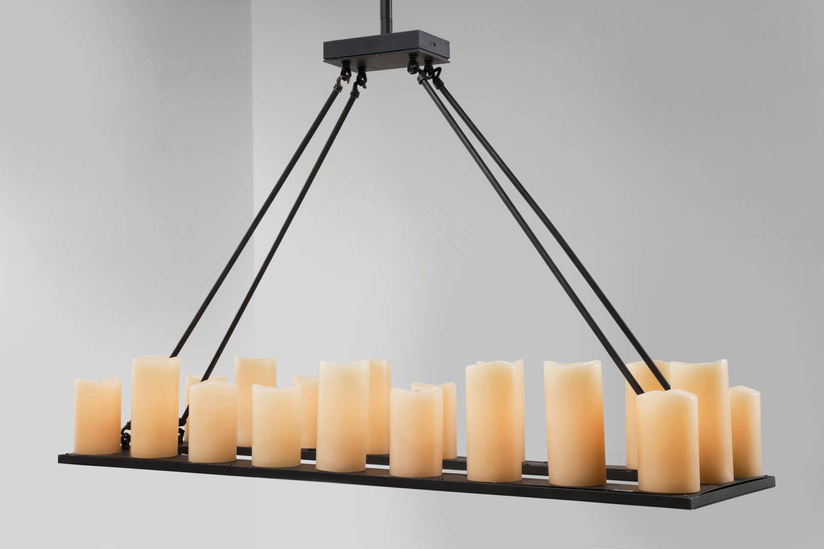 Люстра со свечами в стиле лофт