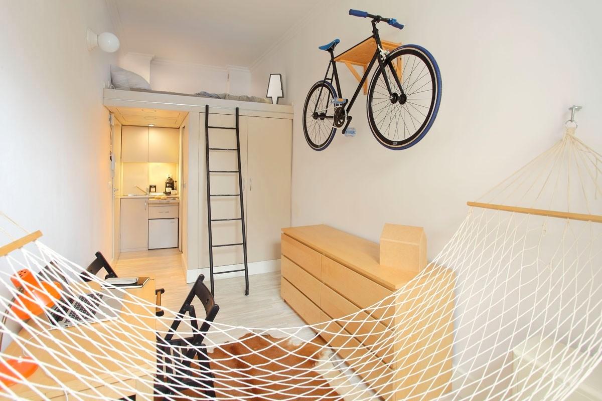 Хранение велосипеда в маленькой квартире