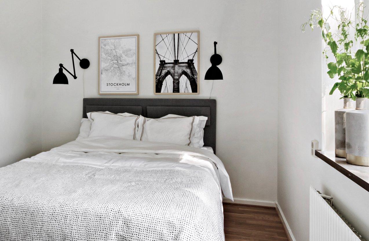 Расстановка мебели в спальне маленькой