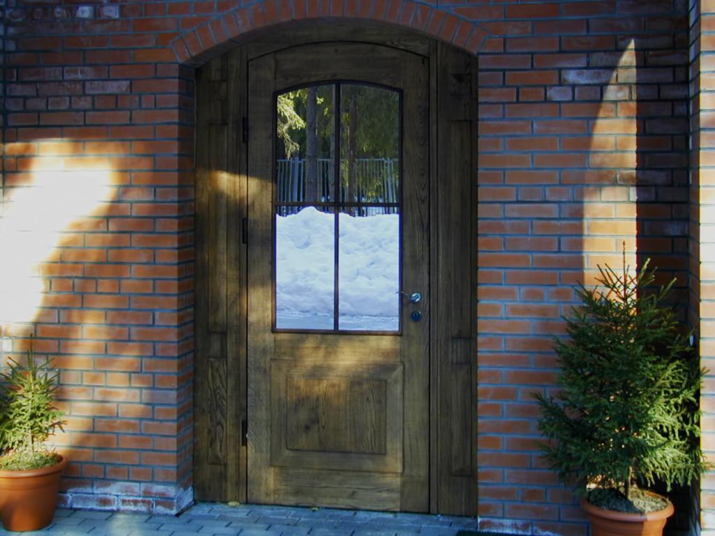 Входная дверь из МДФ с зеркалом