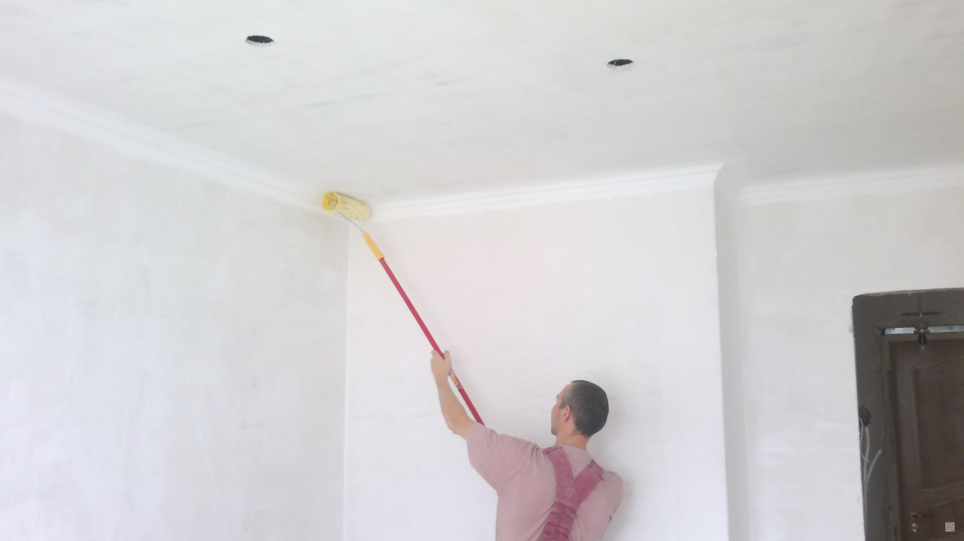Меловая побелка потолка