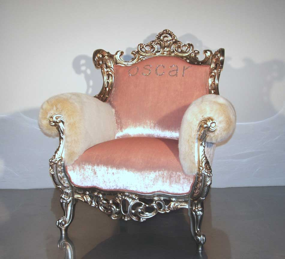 Кресло-трон из металла