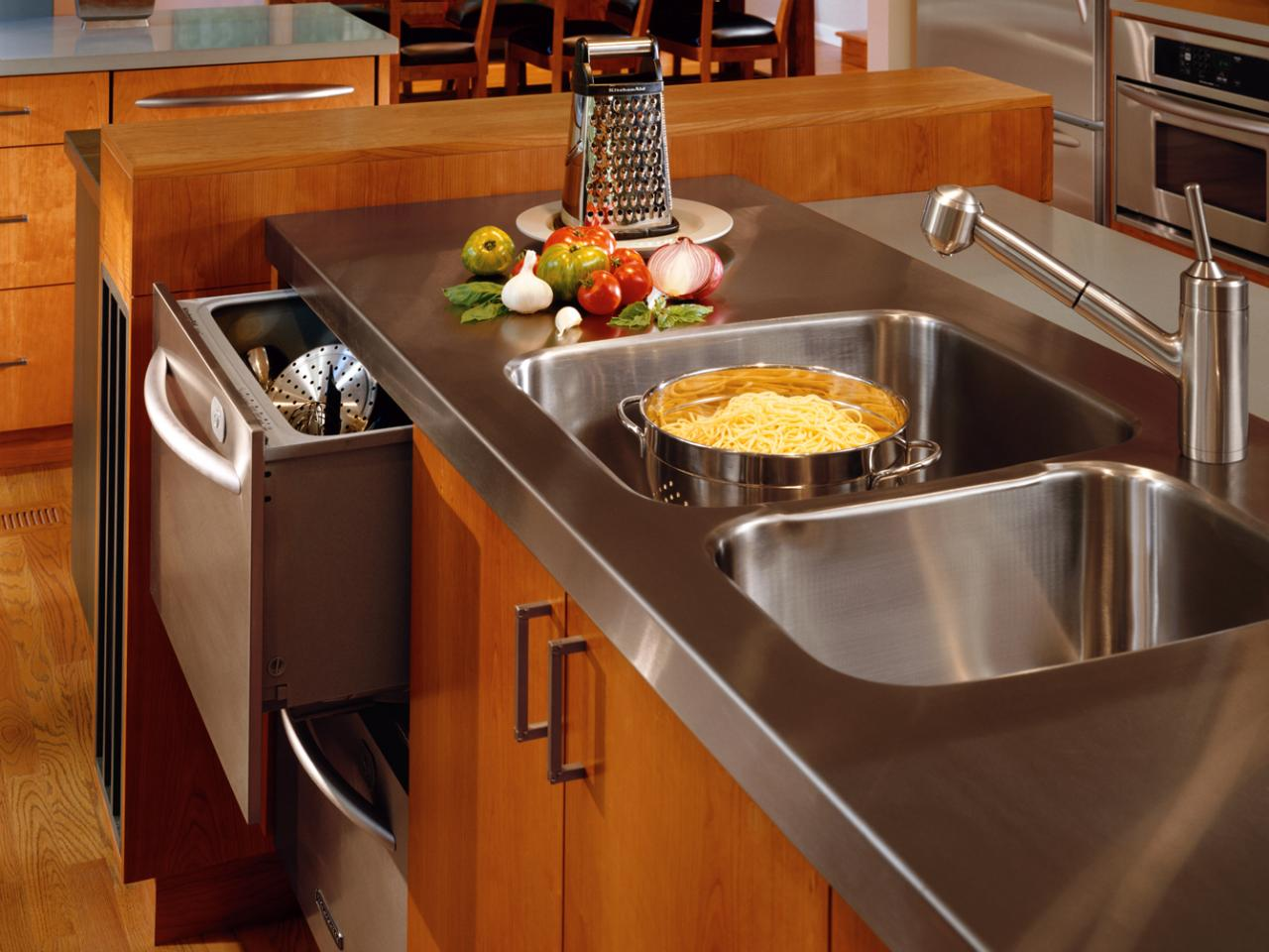 Кухонная столешница из металла