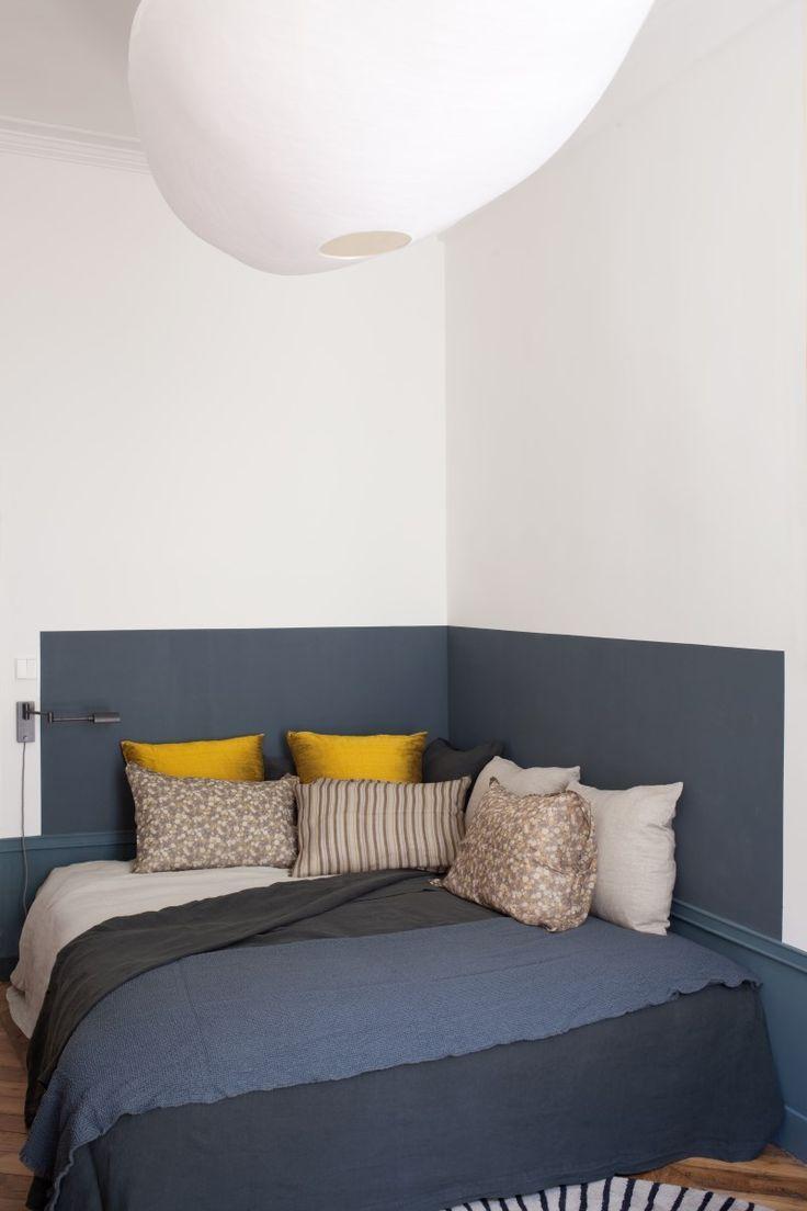 Дизайн узкой спальни в стиле минимализм
