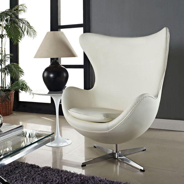 Кожаное кресло в стиле модерн
