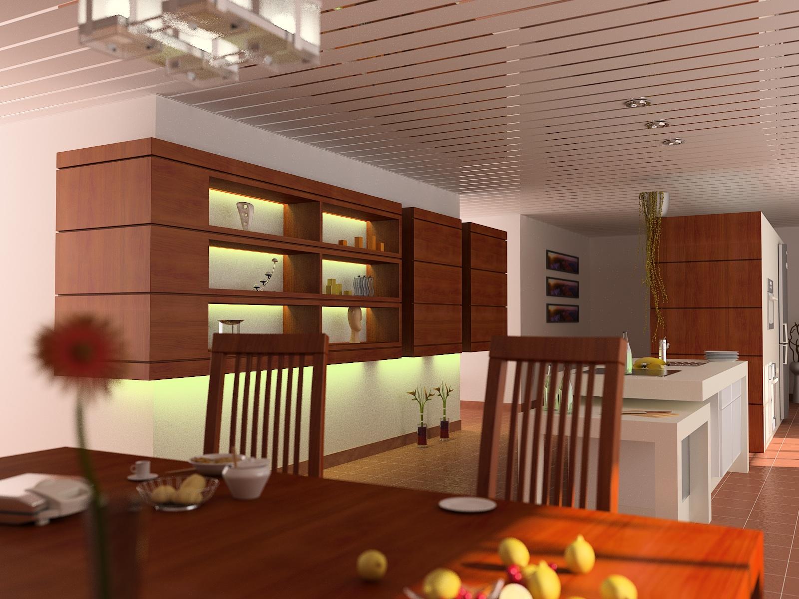 Реечный потолок в стиле модерн