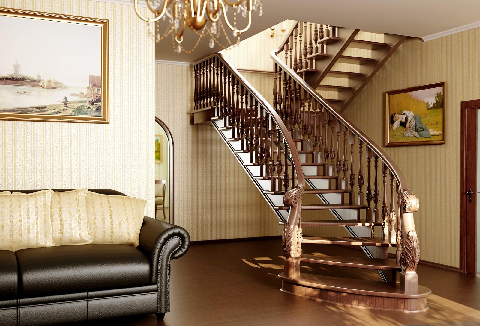 Маршевая лестница в стиле модерн