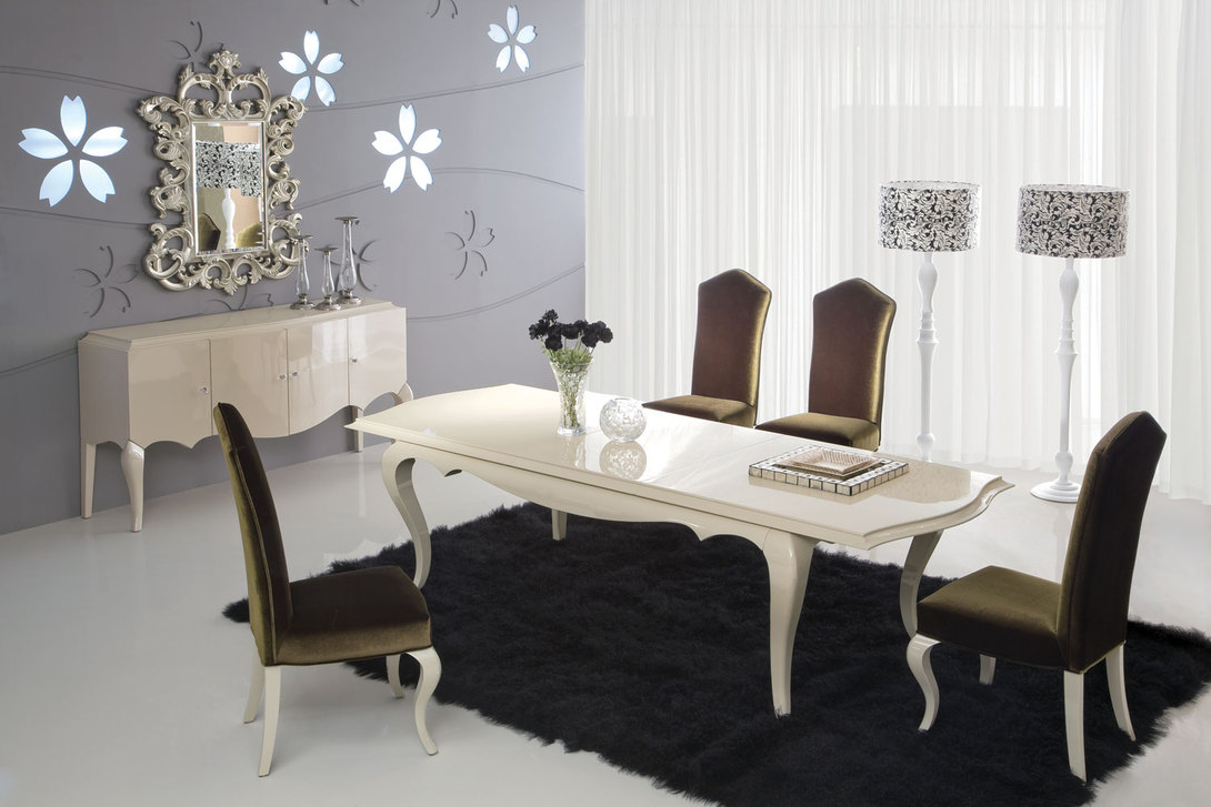 Глянцевый стол в стиле модерн