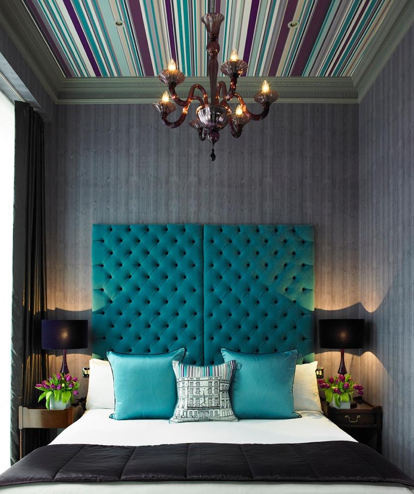 Мягкие стеновые панели цвета морской волны