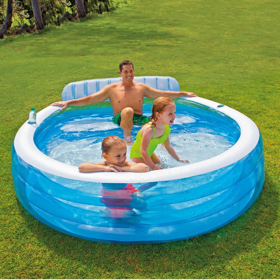 Надувной бассейн с мягкими бортиками