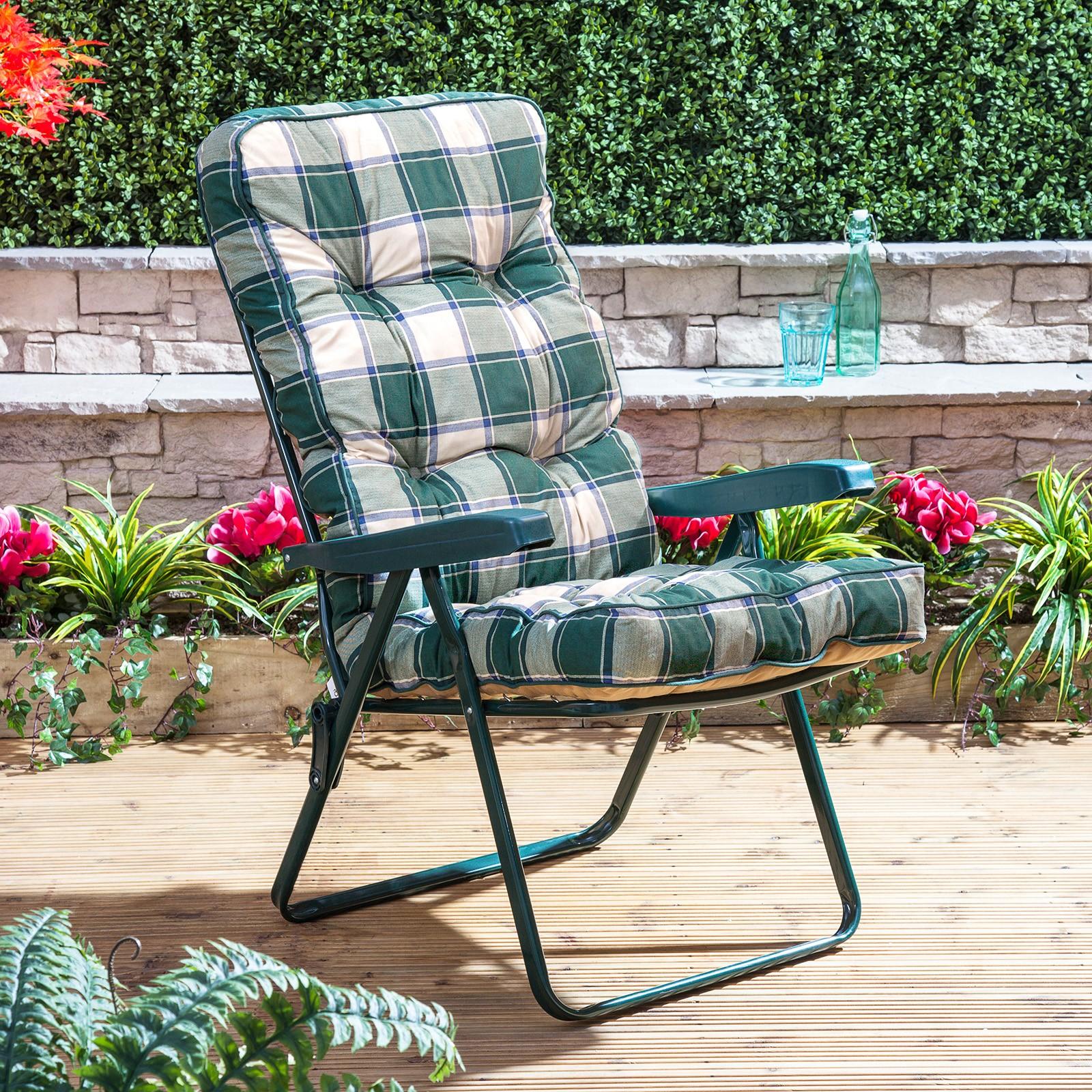 Садовый стул с мягкой обивкой