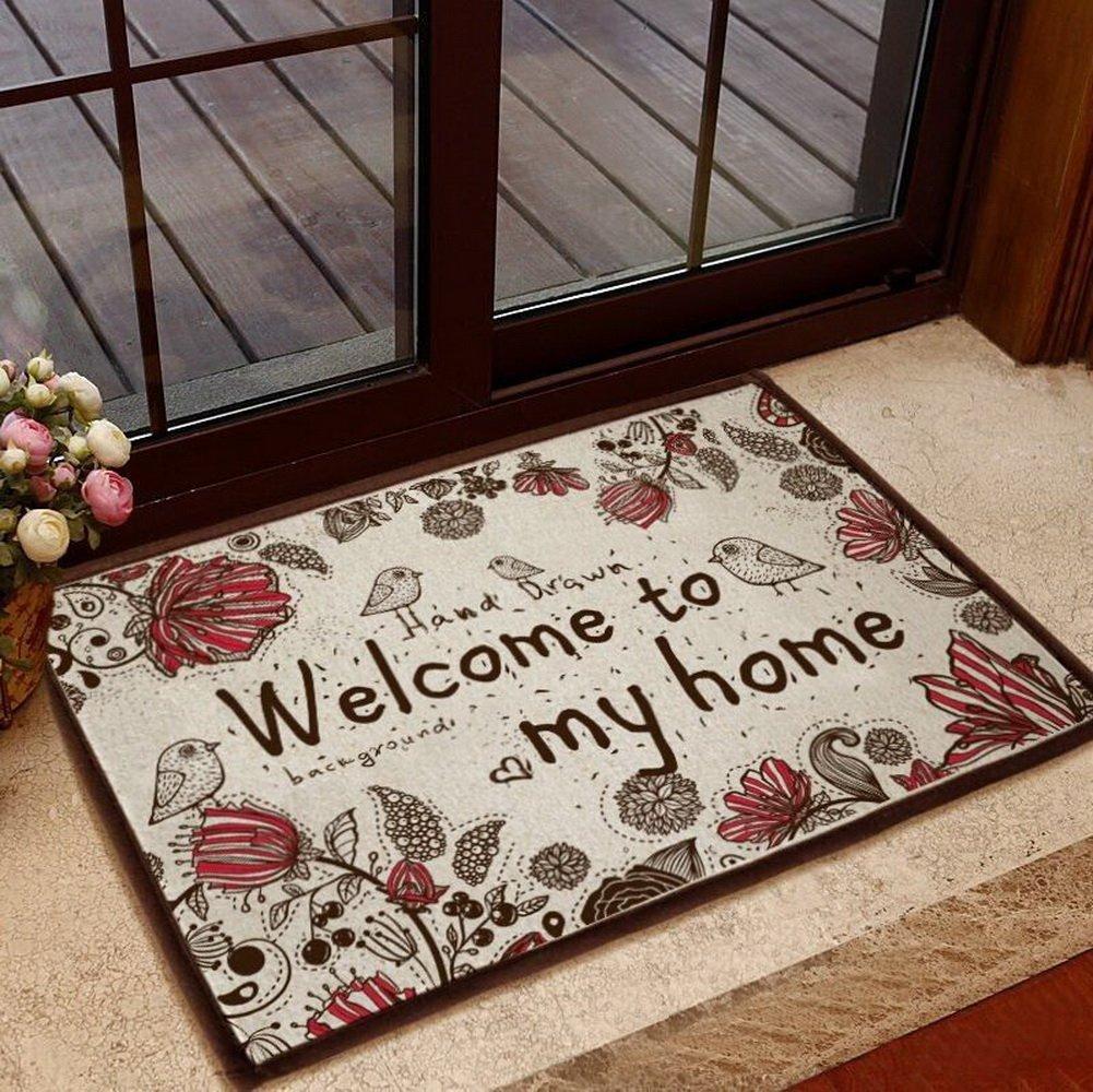 Придверный коврик с надписью