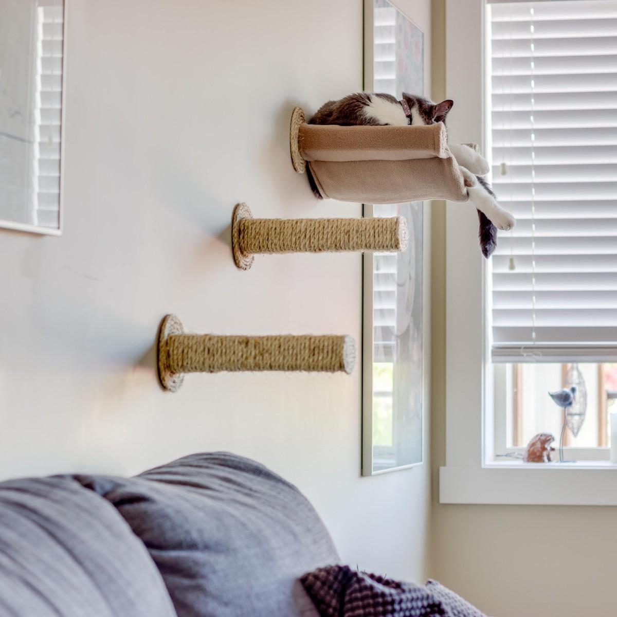 Гамак для кошки настенный