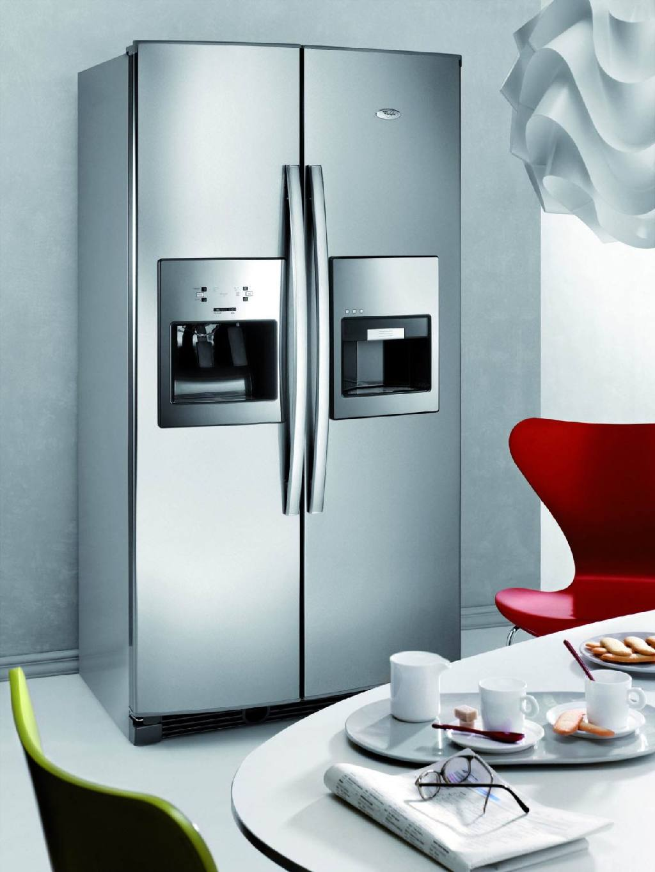 Двухдверный холодильник с нишей для воды