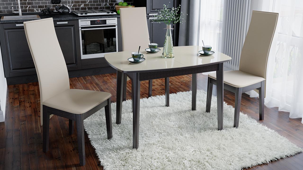 Обеденный глянцевый стол
