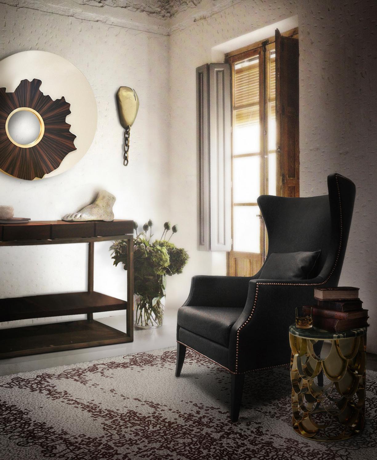 Кожаное кресло обтекаемой формы