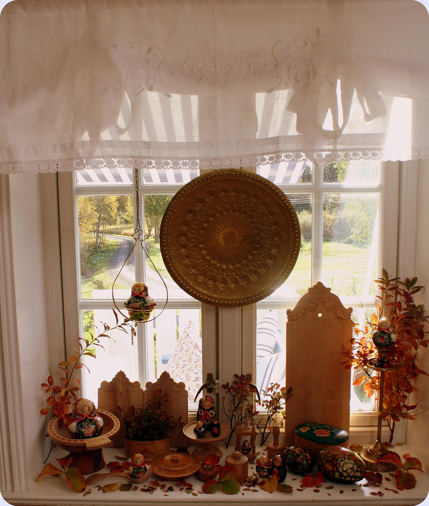 Осенний декор подоконника