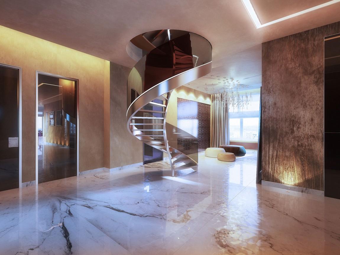 Металлическая отделка лестницы