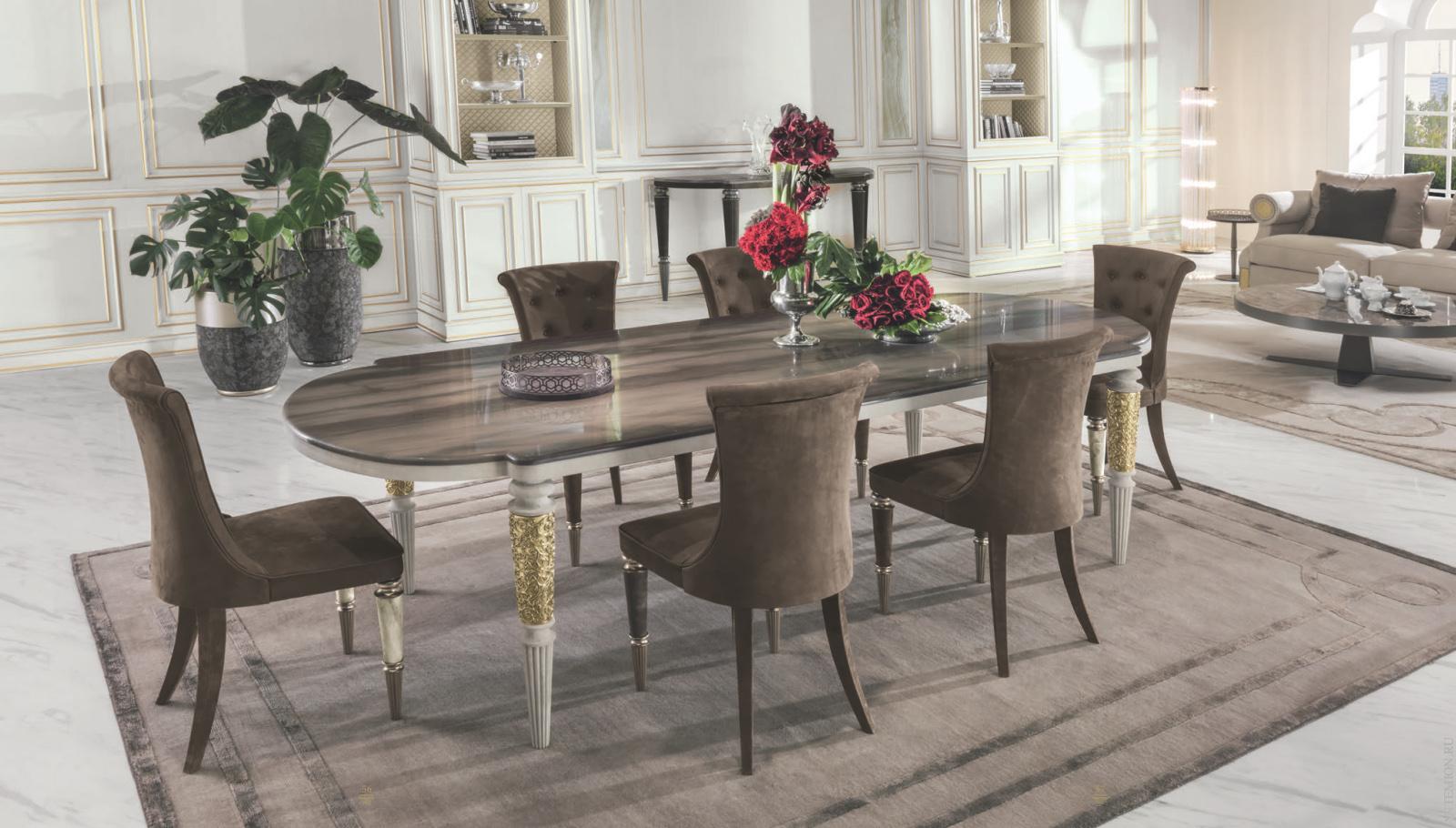 Столовый гарнитур с овальным столом