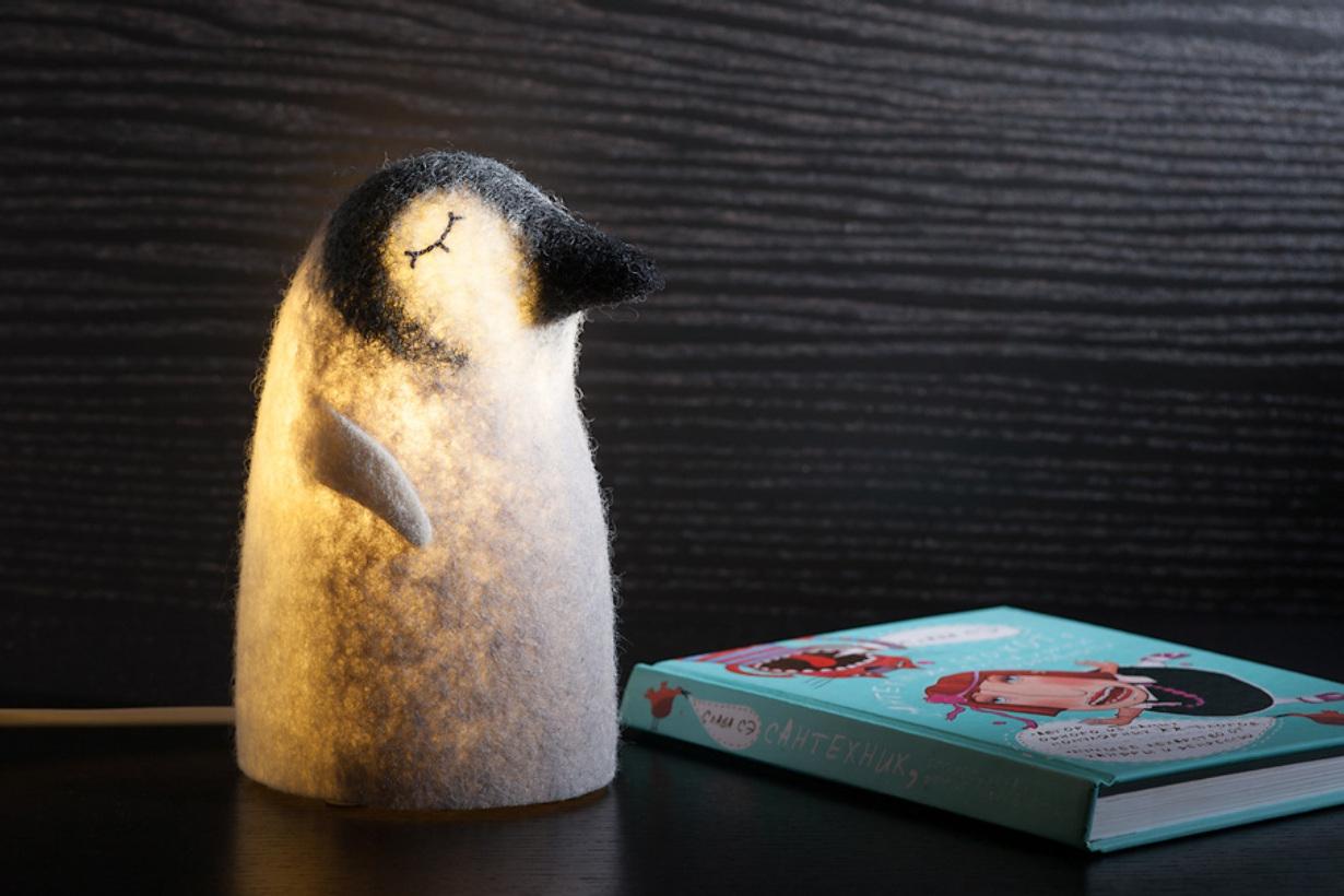 Светодиодный ночник в виде пингвина