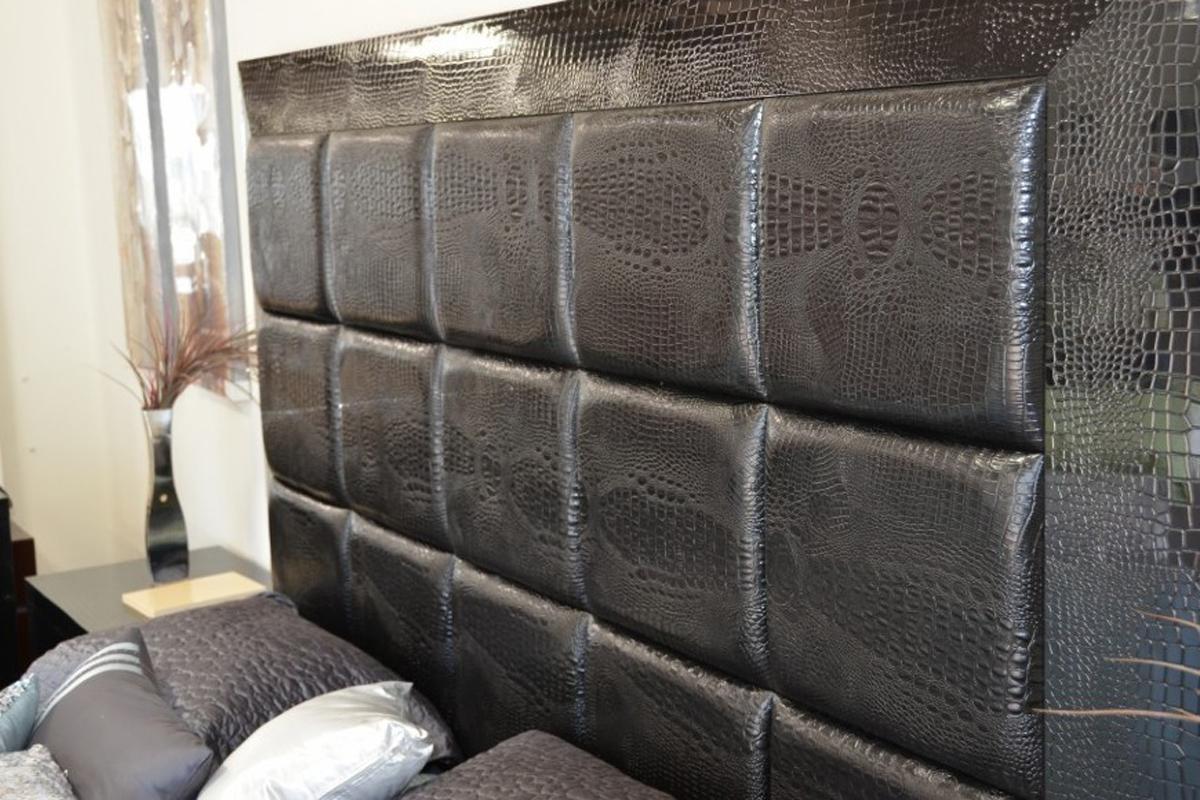 Мягкие стеновые панели под крокодиловую кожу