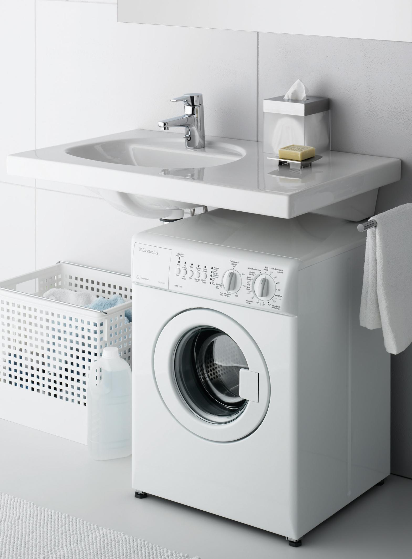 Раковина над стиральной машиной – экономим сантиметры (21 фото)