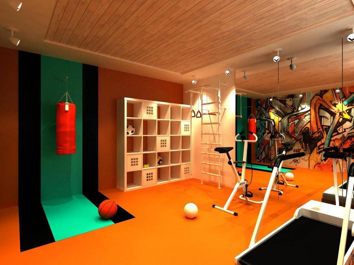 Спортзал в подвале дома