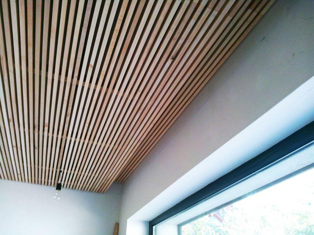 Подвесной потолок из реек