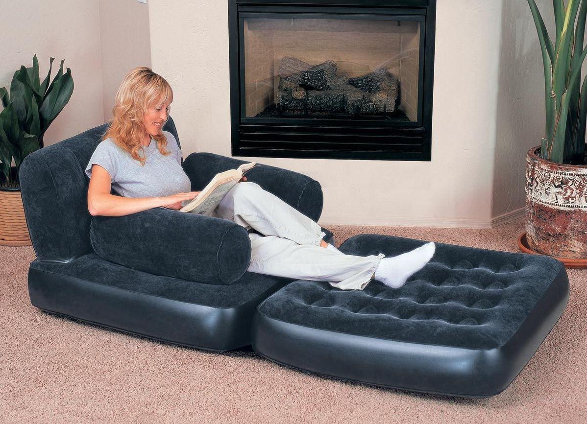 Надувное кресло с противоскользящим покрытием