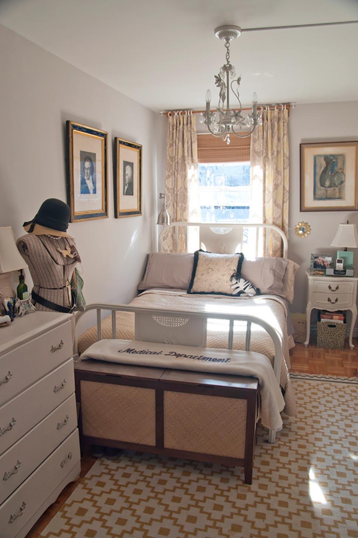 Дизайн узкой спальни в стиле прованс