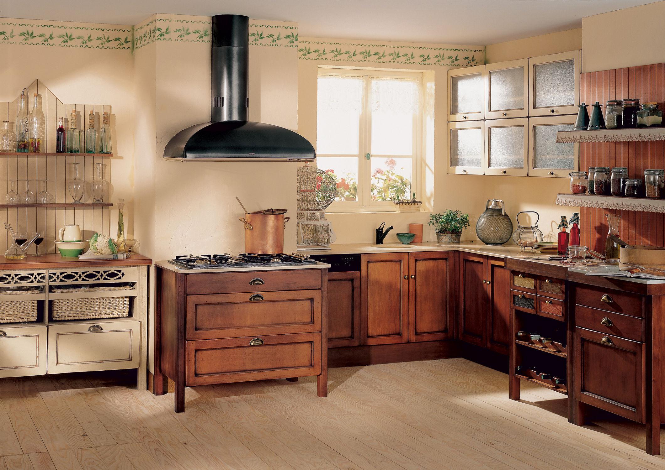 Кухня из массива в стиле прованс