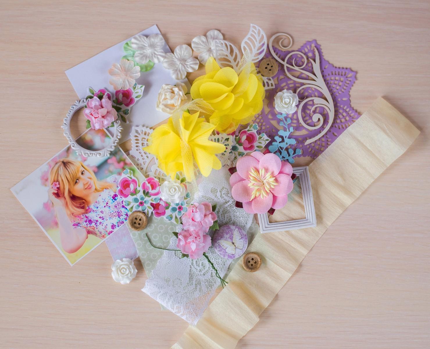 Панно декоративное из бумаги прованс