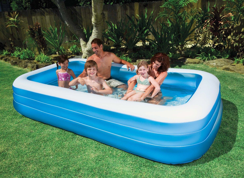 Прямоугольный надувной бассейн