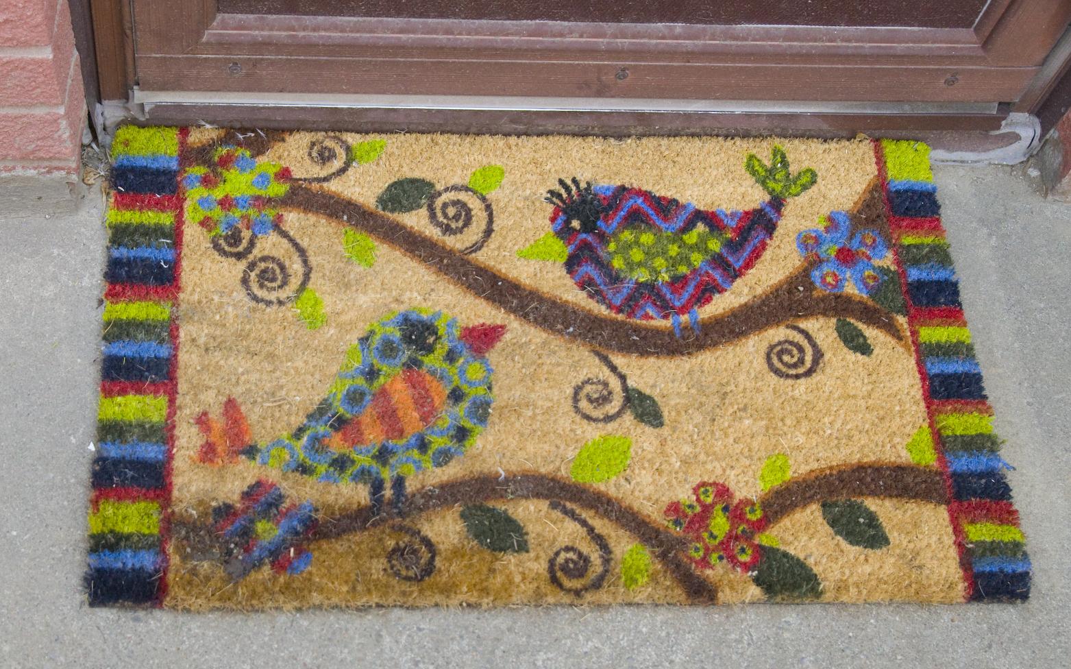 Придверный коврик с птицами